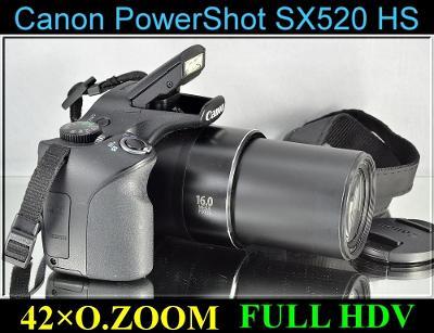 💥 Canon PowerShot SX520 HS - 16 MP*42x Op.Zoom*HD Video✨TOP✨