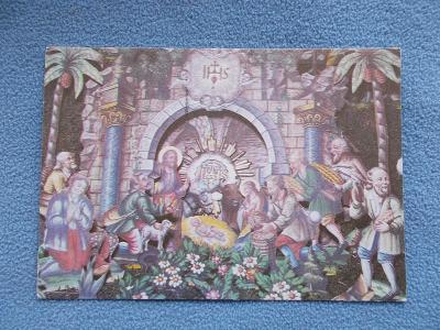 Veselé vánoce betlém figurka Ústí nad Orlicí autor Štantejský malovaný
