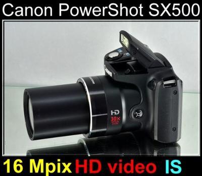 💥 Canon PowerShot SX500 IS - 16 MPix*30x Op.Zoom*HD Video*brašna✨TOP