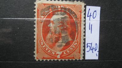 USA - razítkovaná známka katalogové číslo 40 II.