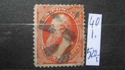 USA - razítkovaná známka katalogové číslo 40 I.