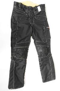 Textilní kalhoty + kůže ROLEFF- vel. XS, pas: 86 cm