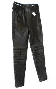Kožené kalhoty dámské- vel. 38/M, pas: 74 cm