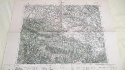 Stará vojenská mapa 1936-Harrachov-Krkonoše-Sudety-pohraničí