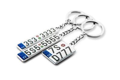 Přívěsek na klíče s SPZ vašeho auta.
