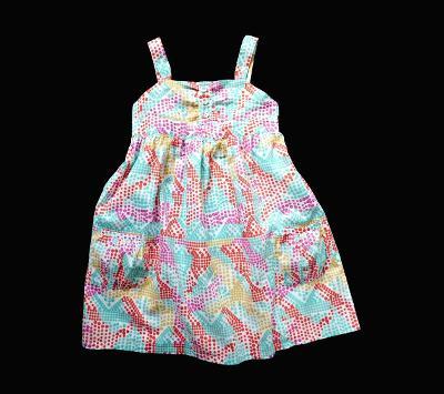 Plátěné šaty s barevnými puntíky  Marks&Spencer 6-7 let