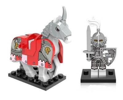 figurka rytíř s koněm doplněk pro lego