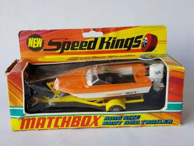 Matchbox Speed Kings K-25 BOAT AND TRAILER