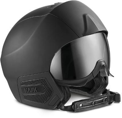 Lyžařská helma Kask Stealth Black Matt - silver mirror vel. 61-63