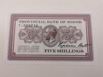 5 šilink Isle of Sodor, T . 000322, stav N