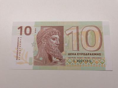 10 eurodrachma, Σ 000593 Ω, stav N