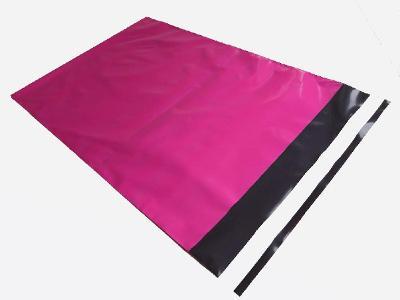 Plastové obálky sytě růžové 320x450 mm - 10 ks