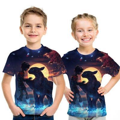 Jak vycvičit draka - dětské tričko s 3D potiskem, různé velikosti