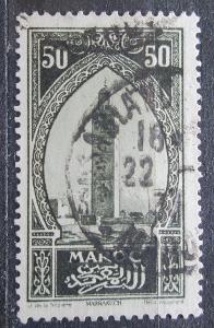Francouzské Maroko 1927 Věž v Marakéši Mi# 65 1940