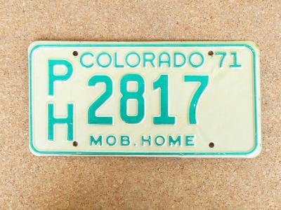 USA SPZ, Colorado originál...