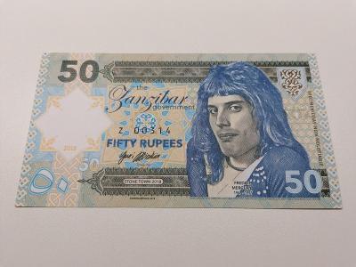 50 rupees, S 00075, Freddie Mercury, stav N