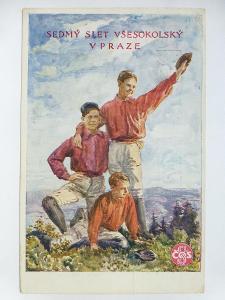 Praha - SOKOL - SLET - malíř J.Blažek 1920