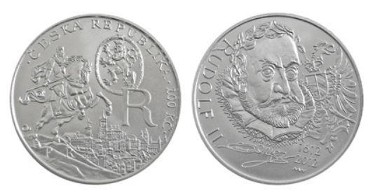 2012 400. výročí úmrtí Rudolfa II PROOF - stav UNC