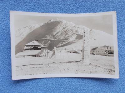 Krkonoše Trutnov Riesengebirge Sněžka zima heslo ROH razítko romantika