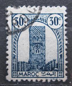 Francouzské Maroko 1943 Hassanova věž v Rabatu Mi# 189 1944
