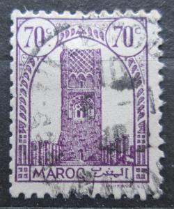 Francouzské Maroko 1943 Hassanova věž v Rabatu Mi# 193 1944