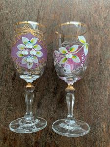 Parove malovane sklenice
