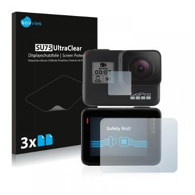 6x Ochranné fólie - GoPro Hero7 Black (přední + zadní displej)
