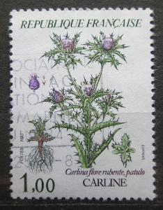 Francie 1983 Carlina flore rubente Mi# 2392 1944