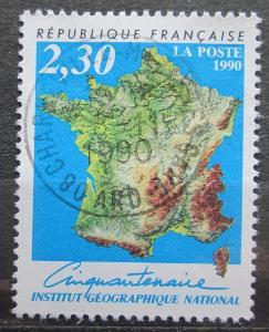 Francie 1990 Mapa Mi# 2798 1944