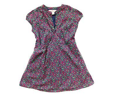 Třešiňkové plátěné šaty 100% bavlna GAP 6-7let