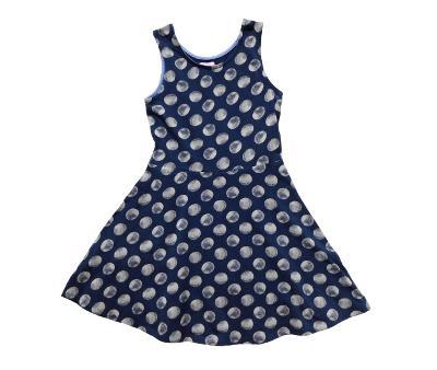 Bavlněné šaty s puntíky F&F 6-7let