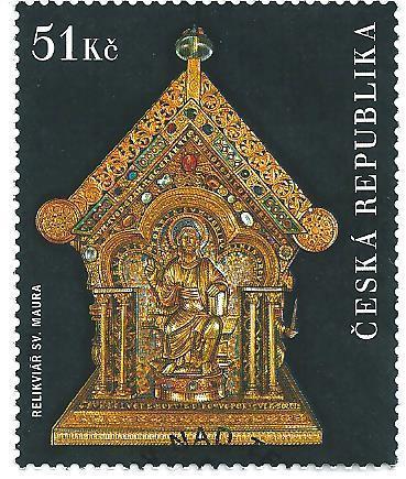 Relikviář sv. Maura 2009, raž. zn. sm. s raz. FDC, NL. k.č. 593.
