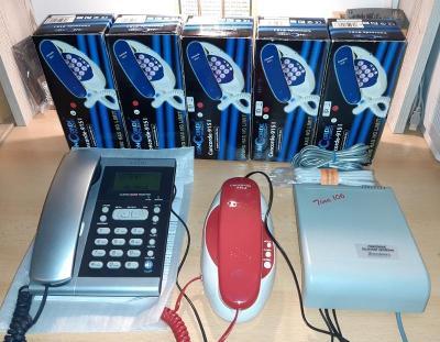 Telefonní okruh - ústředna, 1 sekretářský + 5 účastnických stanic