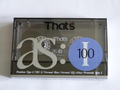 kazeta That´s as: I 100, typ I, 1990-92