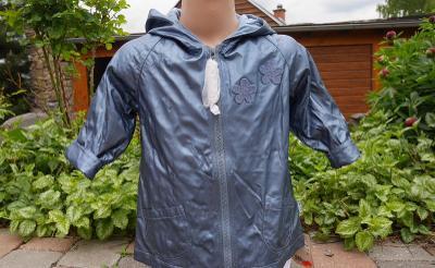 Dětská nepromokavá dlouhá bunda -kabát, podšívka, kapuce, vel.80, NOVÁ