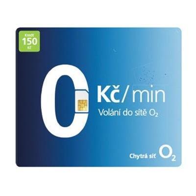 O2 SIM karta - kredit 20,- Kč