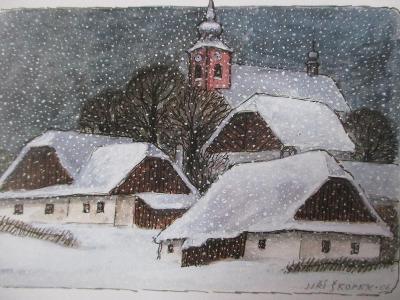 Jiří Škopek Zima ve starém Hlinsku 2006/556