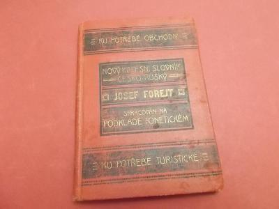 Nový kapesní slovník česko-ruský a rusko-český z roku 1915 Forejt