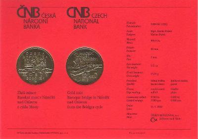 Certifikát Most v Náměšti (pouze karta, bez mince)