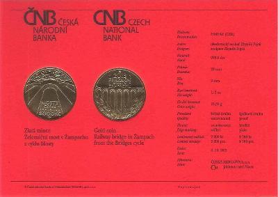 Certifikát Most v Žampachu (pouze karta, bez mince)