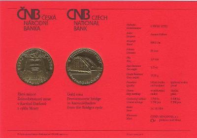 Certifikát Most v Karviné (pouze karta, bez mince)