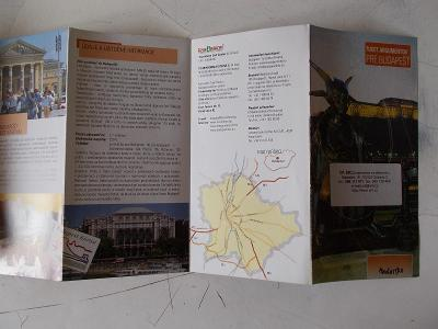 Starší mapa tras cestovní průvodce bedekr Madarsko Budapešt