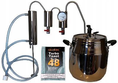 Destilační přístroj Ocel 17L + Termometr Právy nebo Levý
