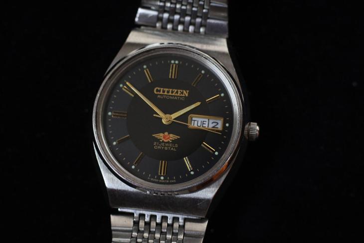 pánské hodinky CITIZEN Automat 21 JEWELS Crystal, TOP STAV - Starožitnosti