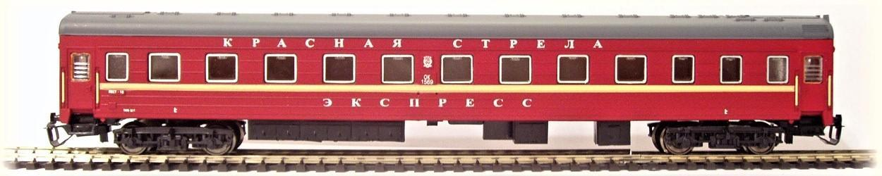 TT-MODEL 2021 Osobní vůz 1. třídy ČERVENÁ ŠIPKA SZD Ep.III-IV TT 1:120