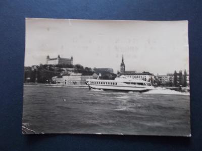 Slovensko Bratislava hrad  lod Raketa Dunaj stroj razítko reklama