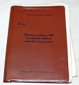 ČSD Ok2/2 PREDPIS K SVP PRE ODVETVIE RUŠŇOVÉHO HOSPODÁRSTVA 1976 VLAK