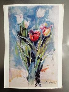 Pohlednice - Akvarel Z. CRHA 148 x 105 mm