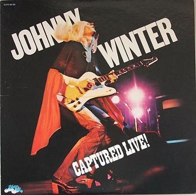 LP:JOHNNY WINTER /blues,1.JAPAN press 1976+2-stránka s foto/ Live! NM