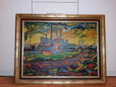 ak. malíř Quido Roman Kocián 1946  olej na plátně 54/70 cm